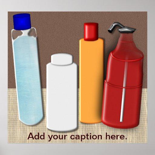 Polvos y poster del personalizable de los aceites