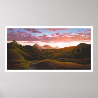 Poly Canyon at Dusk Poster