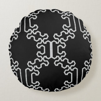 Poly Fracture Black & White Throw Pillow by CMYKEY
