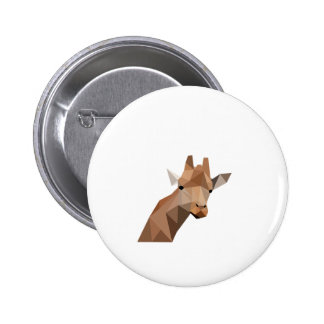 Poly Giraffe Button