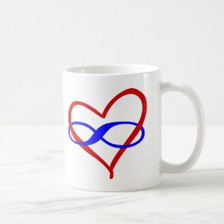 Poly Heart Infinity Coffee Mug
