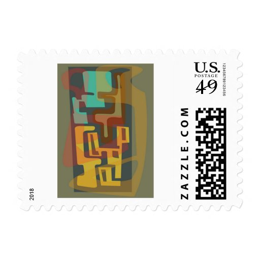 Poly Moids 1 Mid-Century abstract stamps