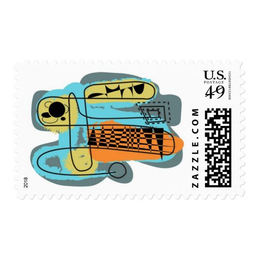 Poly Moids 2 Mid-Century abstract stamps