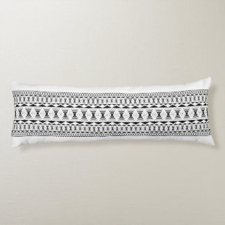 Poly Overlap Black & White Body Pillow by CMYKEY