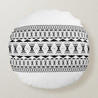 Poly Overlap Black & White Throw Pillow by CMYKEY