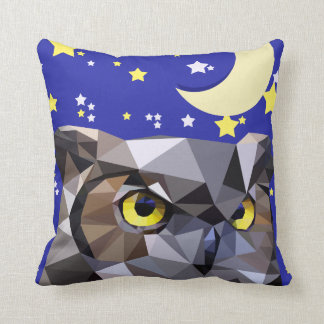 Poly Owl and Night Sky Pillows