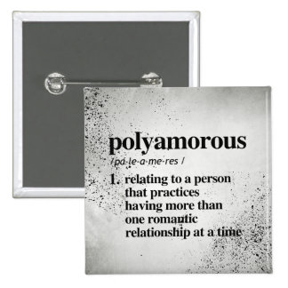 Polyamorous Definition - Defined LGBTQ Terms - Pinback Button