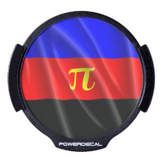 POLYAMOROUS PRIDE FLAG WAVY DESIGN - 2014 PRIDE.pn LED Window Decal
