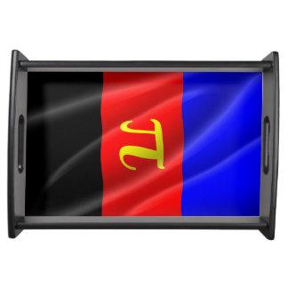POLYAMOROUS PRIDE FLAG WAVY DESIGN - 2014 PRIDE.pn Service Trays