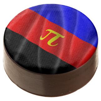 POLYAMOROUS PRIDE FLAG WAVY DESIGN - 2014 PRIDE.pn Chocolate Dipped Oreo