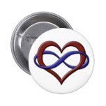 Polyamorous Pride Infinity Heart 2 Inch Round Button