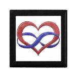 Polyamorous Pride Infinity Heart Trinket Box