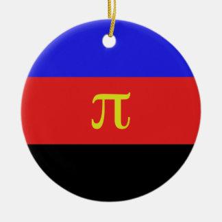 Polyamory Flag Double-Sided Ceramic Round Christmas Ornament