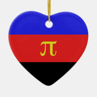 Polyamory Flag Double-Sided Heart Ceramic Christmas Ornament