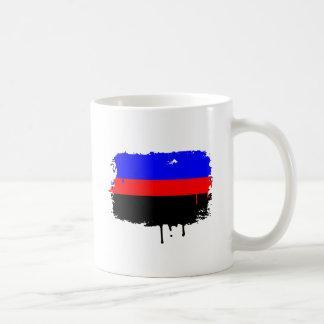 POLYAMORY FLAG DRIPPING CLASSIC WHITE COFFEE MUG