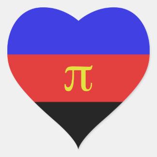 Polyamory Flag Heart Sticker