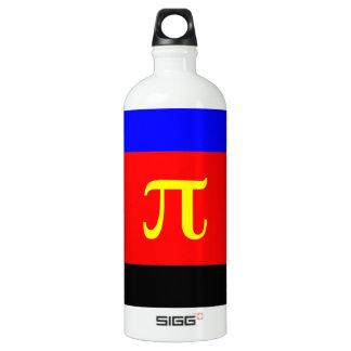 Polyamory Flag -- Pi 3-color Aluminum Water Bottle