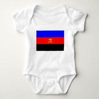 Polyamory Flag -- Pi 3-color Baby Bodysuit