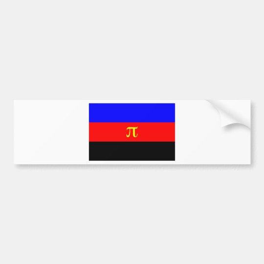Polyamory Flag -- Pi 3-color Bumper Sticker