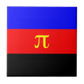 Polyamory Flag -- Pi 3-color Ceramic Tile