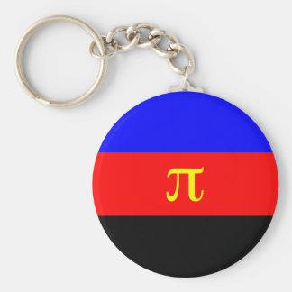 Polyamory Flag -- Pi 3-color Keychain