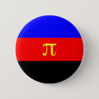 Polyamory Flag -- Pi 3-color Pinback Button