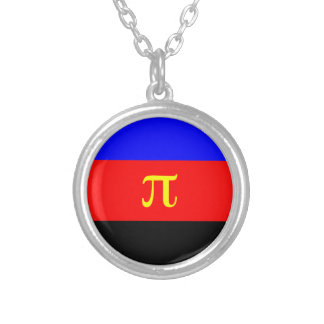 Polyamory Flag -- Pi 3-color Silver Plated Necklace
