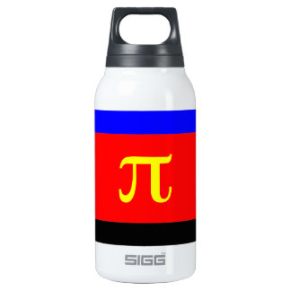 Polyamory Flag -- Pi 3-color Thermos Water Bottle
