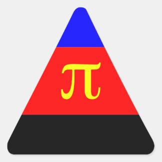 Polyamory Flag -- Pi 3-color Triangle Sticker