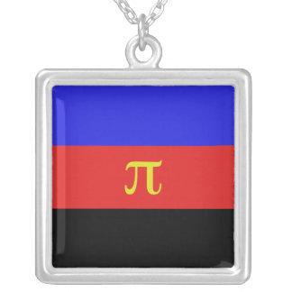 Polyamory Flag Square Pendant Necklace
