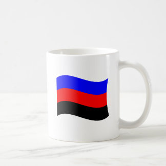 POLYAMORY FLAG WAVING STRIPES CLASSIC WHITE COFFEE MUG