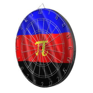 POLYAMORY PRIDE FLAG WAVY DESIGN DART BOARD