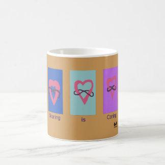 Polyamory: Sharing is Caring/ Poly Logos Coffee Mug