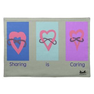Polyamory: Sharing is Caring/ Poly Logos Placemat