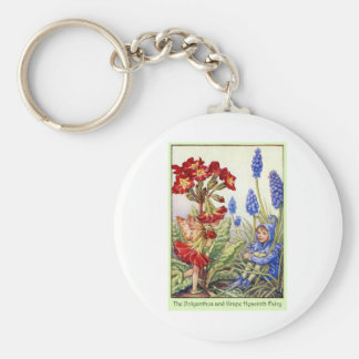 Polyanthus and Grape Hyacinth Fairy Keychain