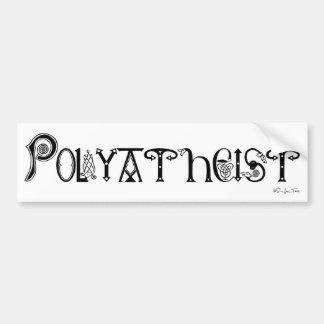 Polyatheist Pegatina Para Auto