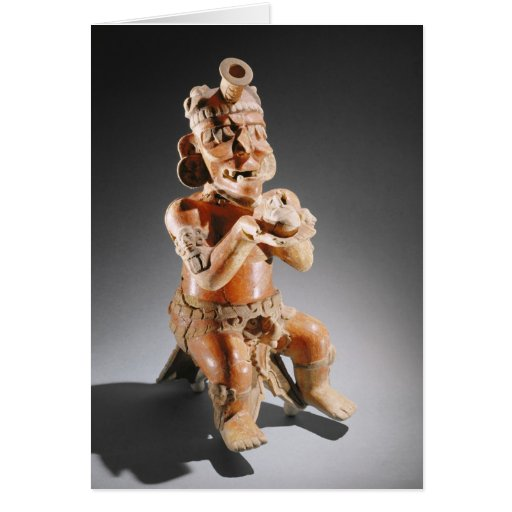 Polychrome two-part effigy vessel, perhaps greeting card