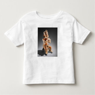 Polychrome two-part effigy vessel, perhaps toddler t-shirt
