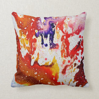 Polychromoptic #1A by Michael Moffa Throw Pillow