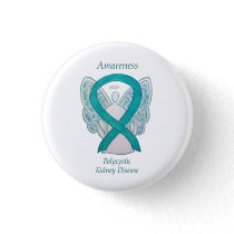 Polycystic Kidney Disease Awareness Angel Art Pins