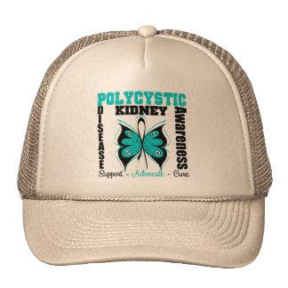 Polycystic Kidney Disease Awareness Butterfly Trucker Hat