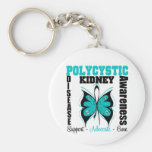 Polycystic Kidney Disease Awareness Butterfly Keychains