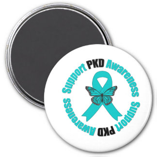 Polycystic Kidney Disease Awareness Butterfly Refrigerator Magnet