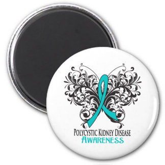 Polycystic Kidney Disease Awareness Butterfly Refrigerator Magnets