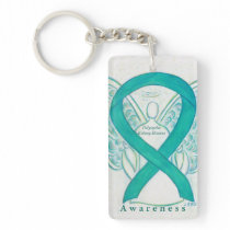 Polycystic Kidney Disease Awareness Ribbon Chain Keychain