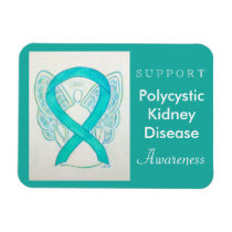 Polycystic Kidney Disease Awareness Ribbon Magnet