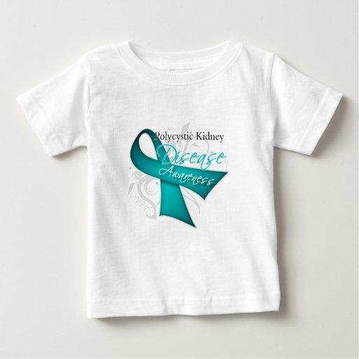 Polycystic Kidney Disease Awareness Ribbon Tee Shirt