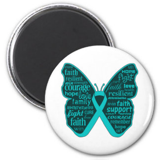 Polycystic Kidney Disease Butterfly Ribbon Magnets