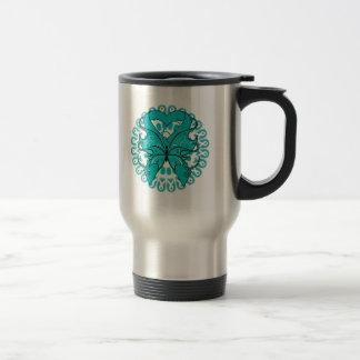 Polycystic Kidney Disease Circle of Ribbons Coffee Mugs