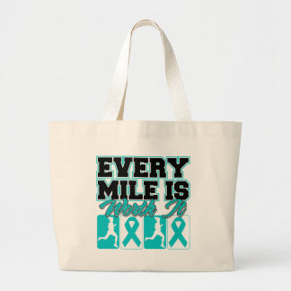Polycystic Kidney Disease Every Mile is Worth It Canvas Bags